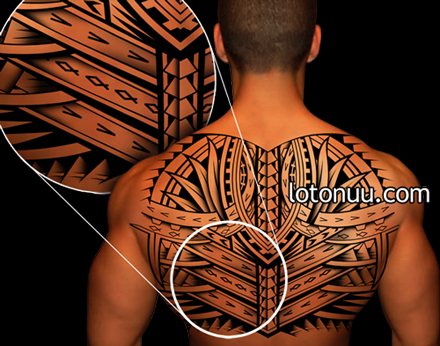 Samoan Tribal Back Tattoos